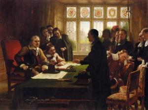 Charles_West_Cope_-_Oliver_Cromwell_and_His_Secretary_John_Milton,_Receiving_a_Deputation_Seeking_Aid_for_the_Swiss_Protestants